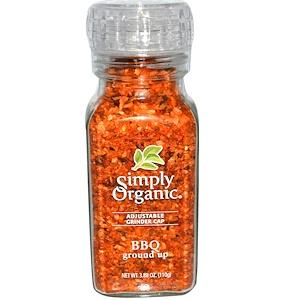 Simply Organic, Толченая приправа для барбекю 110 гр