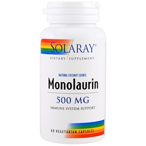 Solaray, Монолаурин, 500 мг, 60 вегетарианских кап