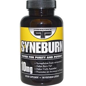 Primaforce, Syneburn, 10 мг, 180 растительных кап (жиросжигатель)