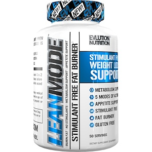 EVLution Nutrition, Lean Mode, Без стимуляторов, 150 кап (жиросжигатель)