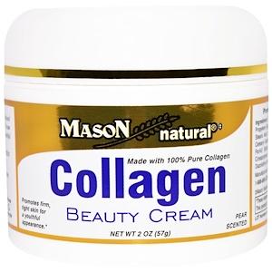 Mason Natural, Крем с коллагеном, с ароматом груши 57 гр