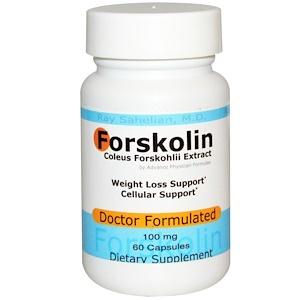 Advance Physician Formulas, Inc., Форсколин - экстракт корня колеус форсколии, 100 мг, 60 кап