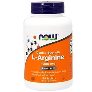 Now Foods, L-аргинин, 1000 мг, 120 таб
