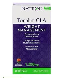 Natrol, Tonalin, CLA, 1,200 mg, 60 кап.
