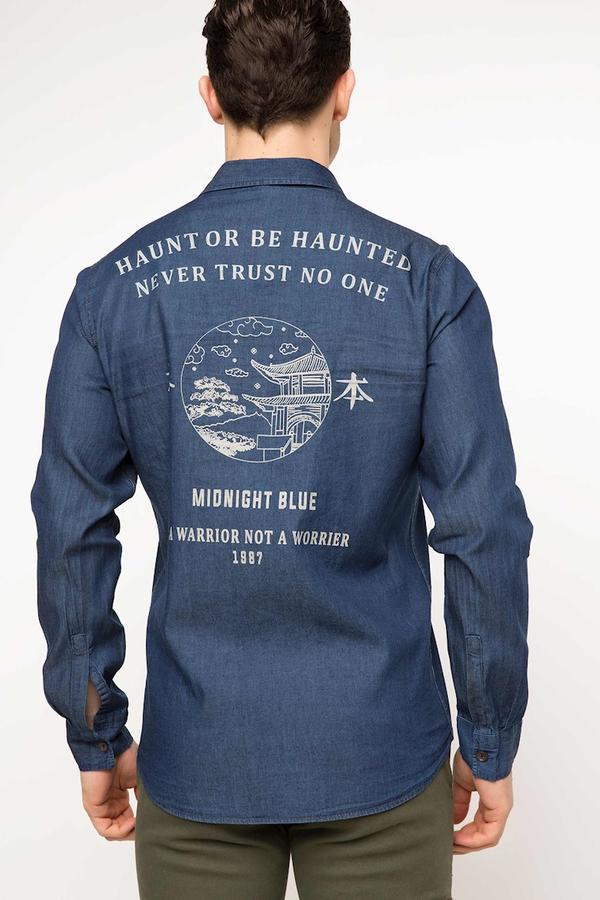 Рубашка / сорочка мужская джинсовая