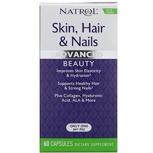 Natrol, Кожа, волосы и ногти, небывалая красота, 60 кап