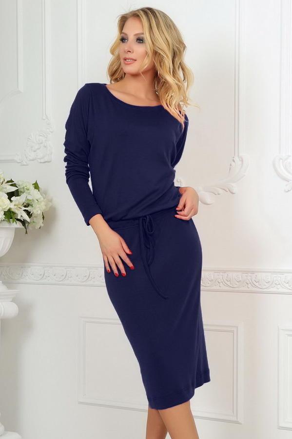 Платье 2478.65 тёмно-синее