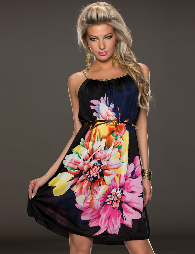 Короткие платья с цветами картинки