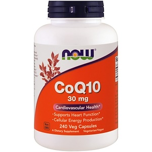 Now Foods, CoQ10, 30 мг, 240 растительных кап