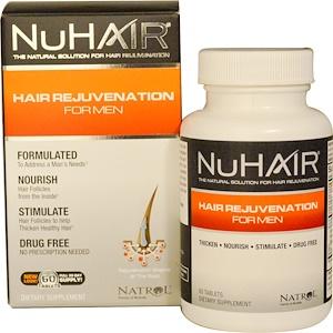 Natrol, NuHair, восстановление волос для мужчин, 60 таб