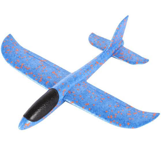 Самолет-аэроплан, светящийся  синий