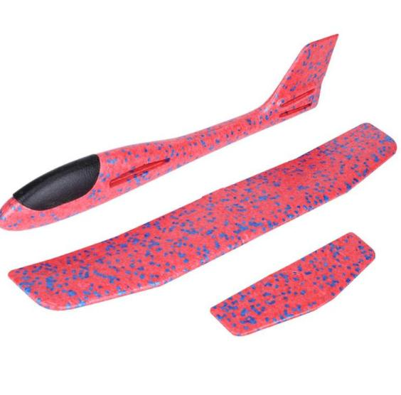 Самолет-аэроплан, светящийся розовый