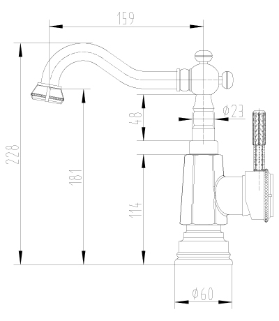 """LM6604ORB """"Жасмин"""" Смеситель для кухни/умывальника с поворотным изливом, черная бронза"""