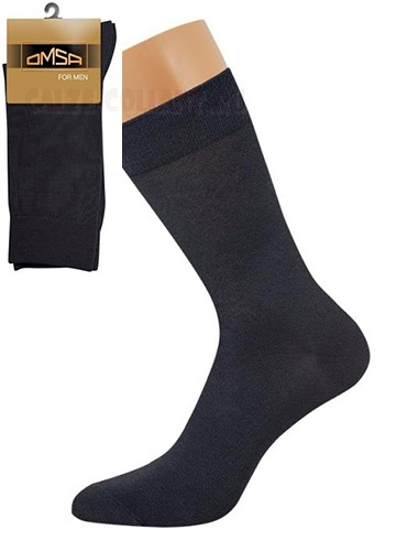 Классические гладкие эластичные всесезонные мужские носки из хлопка