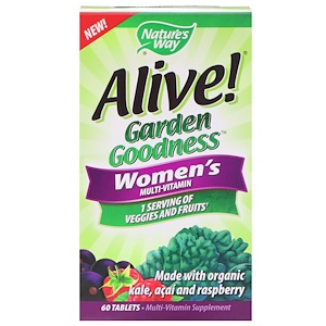 Nature's Way, Alive! Garden Goodness Women's Multivitamin, 60 Tab.