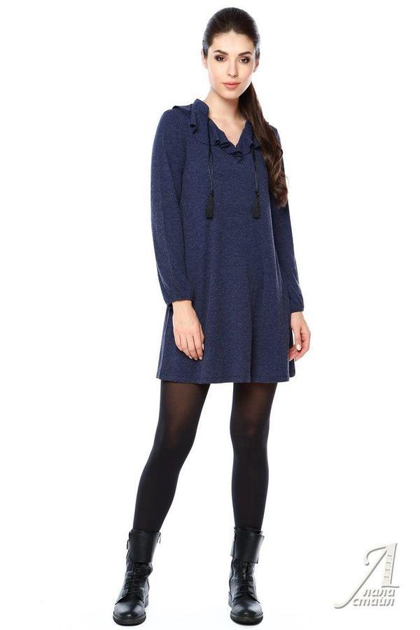 Туника или платье (подойдет для беременных) р. 46 цвет Синий во Владивостоке