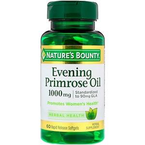 Nature's Bounty, Масло вечерней примулы, 1000 мг, 60 мягких кап.
