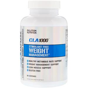 EVLution Nutrition, CLA 1000, 90 мягких желатиновых кап.