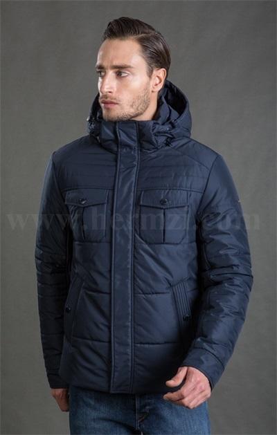 Демисезонная мужская утепленная куртка Hermzi, цвет Темно-синий