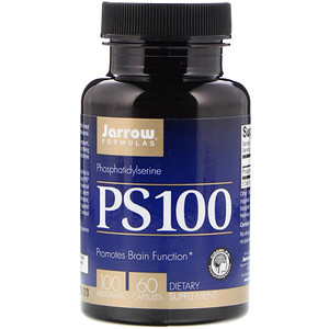 Jarrow Formulas, PS-100, фосфатидилсерин, 100 мг, 60 кап.