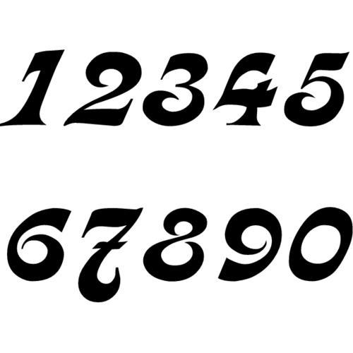 поиск шрифты цифр картинки демонстрирует