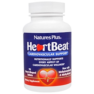 Nature's Plus, Сердцебиение, Поддержка Сердечно-сосудистой системы , 90 Таб