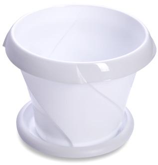 Кашпо Кашпо 0,3л с поддоном [ФЛОРИАНА] БЕЛЫЙ. Размеры изделия: диаметр 103 мм., высота 76 мм.