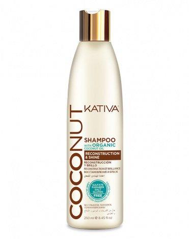 COCONUT Восстанавл-ий шампунь с органическим кокосовым маслом для поврежденных волос 500мл Kativa(р)