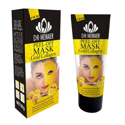 Маска-пленка для кожи лица Y W F Peel-off mask Gold Collagen Whitening Anti-Wrinkle 60g