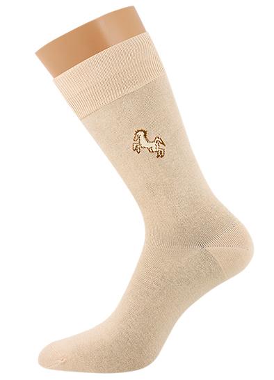 Мужские носки B1 CLASSIC лошадь всесезонные Beige