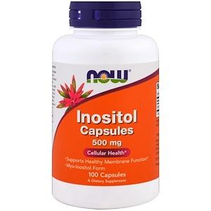 Now Foods, Инозитол Капсулы (Inositol Capsules), 500 мг, 100 кап