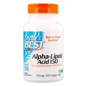 Doctor's Best, Лучшая альфа-липоевая кислота, 150 мг, 120 кап