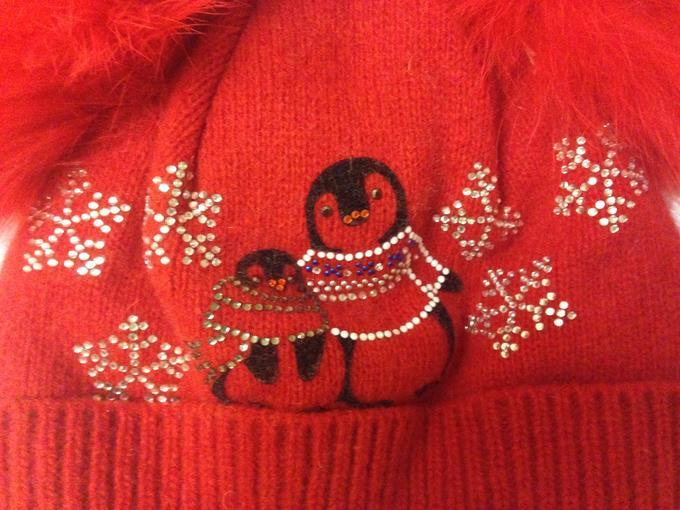 Зимняя красная шапка на девочку 46-48 см в Хабаровске