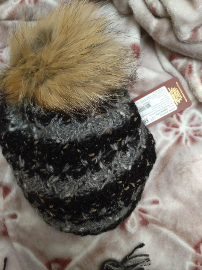 комплект  шапка  и снуд  (черно- светло серая гамма) во Владивостоке