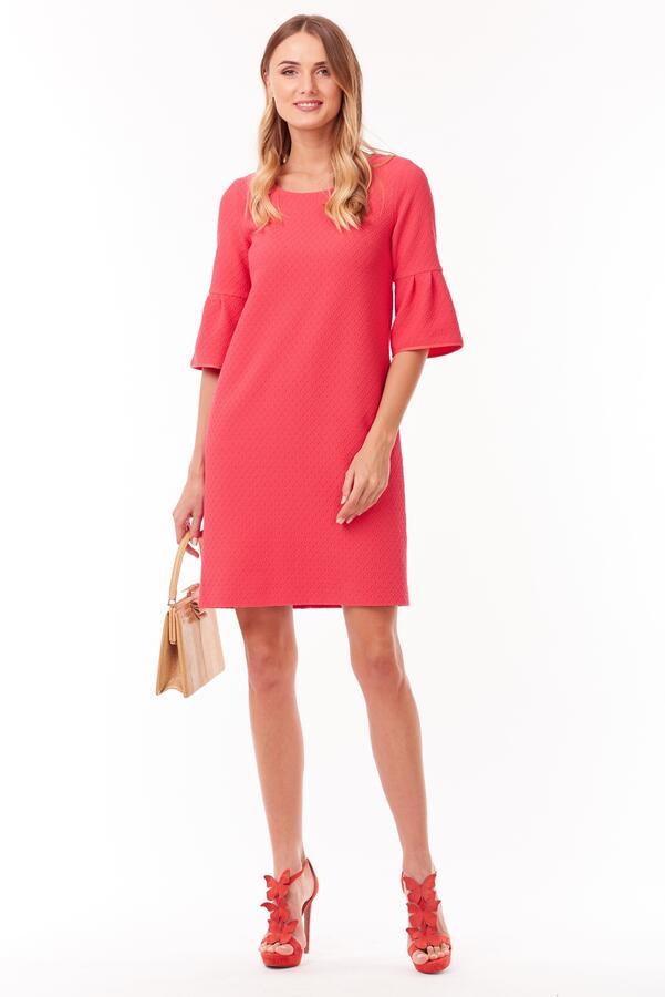 Платье кораллового цвета из закупки Городская одежда на 44-46 размер на высокий рост во Владивостоке