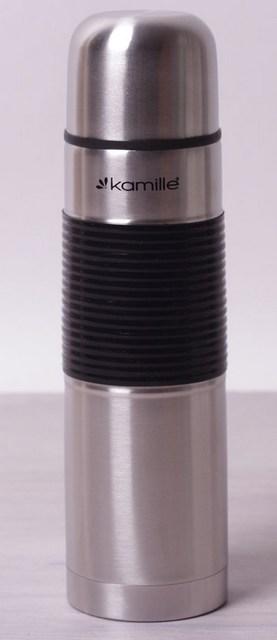 Термос Kamille Термос 500мл с узким горлом (нержавеющая сталь, силиконовая вставка) Польша
