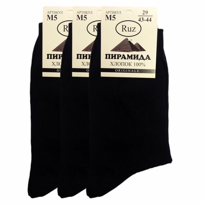 РузТекс Мужские носки Пирамида М5, Черный