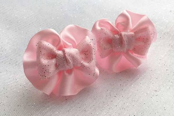 Детский бантик Анетт розовый