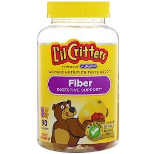 L'il Critters, Клетчатка для поддержки пищеварения, натуральный фруктовый вкус, 90 жевательных таб.