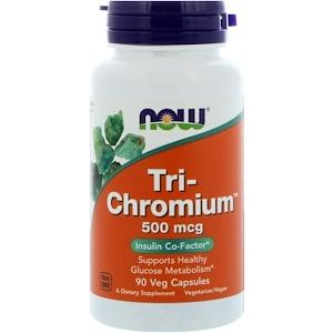 Now Foods, Tri-Chromium, 500 мкг, 90 вегетарианских кап.