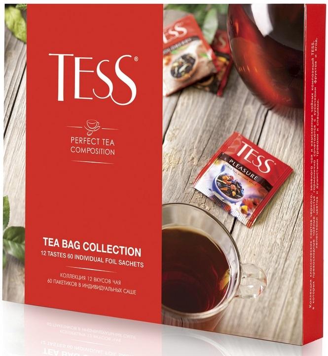ПРОМО! Чай Тесс набор чая и чай.нап. 12 видов 101г в пакетиках