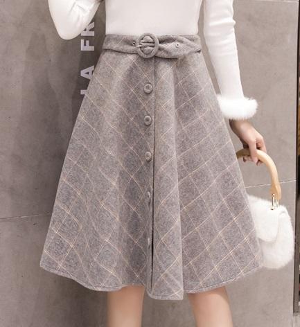Шерстяная юбка, серый во Владивостоке
