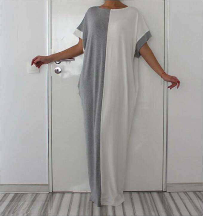 Платье пляжное цвет; СЕРЫЙ