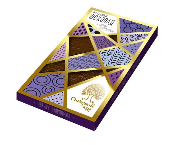 Молочный шоколад со СМОРОДИНОЙ. 100 г