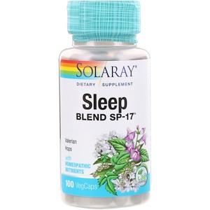 Solaray, Снотворная смесь SP-17, 100 растительных кап.