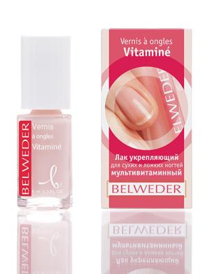 Лак укрепляющий для сухих и ломких ногтей мультивитаминный Бельведер, 8 мл