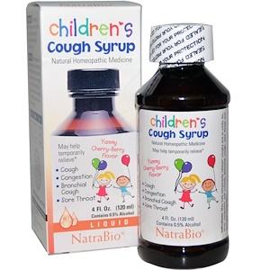 NatraBio, Детский сироп от кашля с вишневым вкусом,  (120 мл)