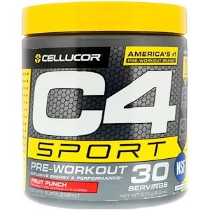 Cellucor, C4 Sport, предтренировочный  270 гр, 30 порций