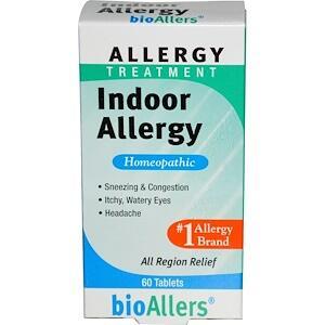 NatraBio, BioAllers, лечение домашней аллергии, 60 таб.