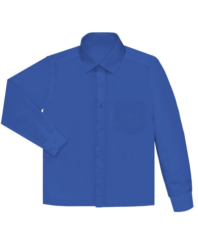Васильковая рубашка для мальчика Цвет: василёк